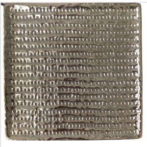 Michael Aram Square Plate Metal Textured Signed